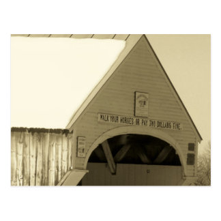 Covered Bridge Postcard