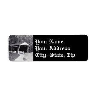 Covered Bridge Return Address Label