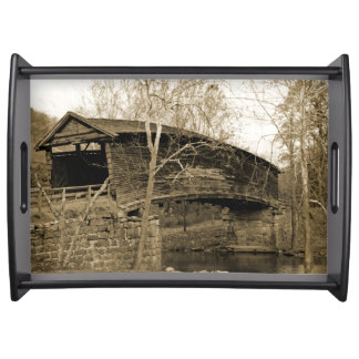 Covered Bridge Serving Tray