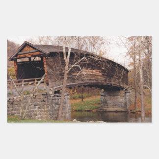 Covered Bridge Rectangular Sticker