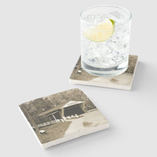 Covered Bridge Stone Beverage Coaster