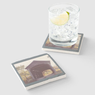 Covered Bridge Stone Coaster