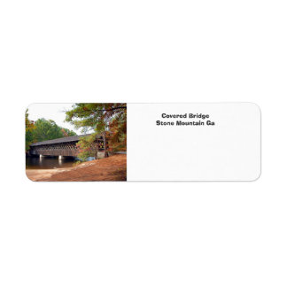 Covered Bridge Stone Mountain Ga Return Address Label