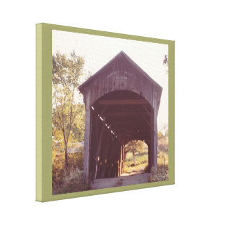 Covered Bridge Stretched Canvas Print