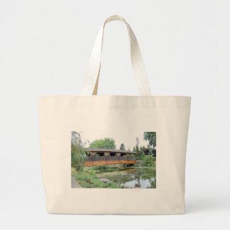 Covered Bridge Summer Tote Bags