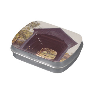 Covered Bridge Jelly Belly Candy Tin