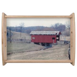 Covered Bridge Serving Platter