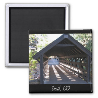Covered Bridge Vail, CO Fridge Magnets