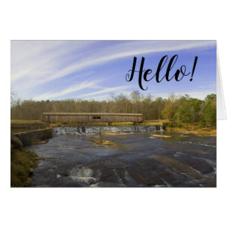 Covered Bridge Watson Mill State Park Hello Note Card