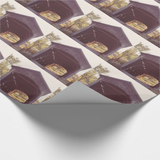Covered Bridge Gift Wrap Paper