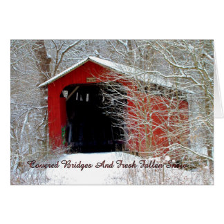 Covered Bridges 'Thinking Of You' Greeting Card