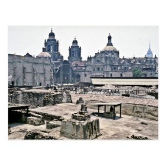 Covered Excavations Of Aztec Site, Mexico City Postcard