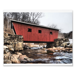 Covered Foot Bridge Photo Print