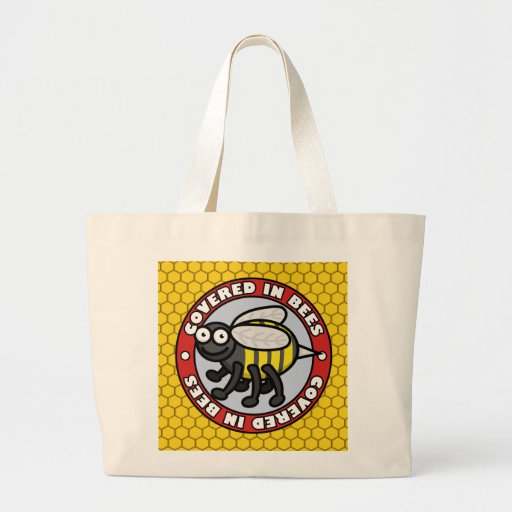 Covered in Bees 2 Canvas Bags