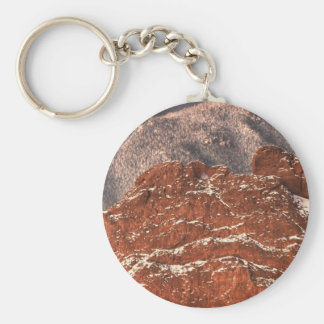 Covered in Snow Basic Round Button Key Ring