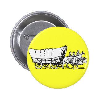 Covered Wagon 6 Cm Round Badge