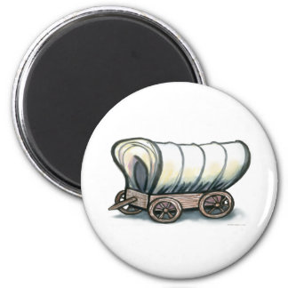 Covered Wagon 6 Cm Round Magnet