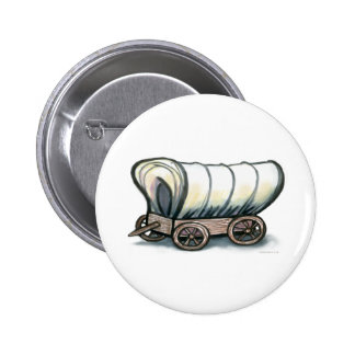 Covered Wagon Pinback Buttons
