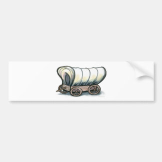 Covered Wagon Bumper Stickers