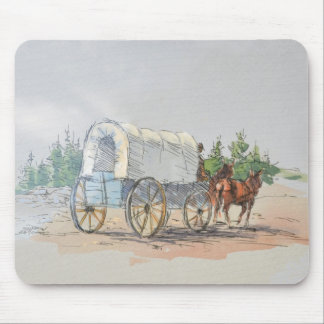 COVERED WAGON by SHARON SHARPE Mousepads