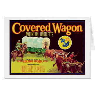 Covered Wagon Fruit Vintage Label Note Card