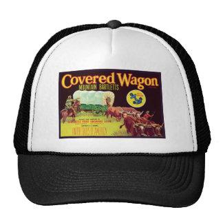 Covered Wagon Fruit Vintage Label Mesh Hats