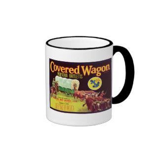 Covered Wagon Fruit Vintage Label Mug