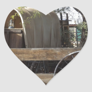 Covered Wagon Heart Sticker