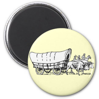 Covered Wagon Refrigerator Magnet