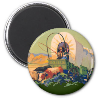 Covered Wagon Magnet
