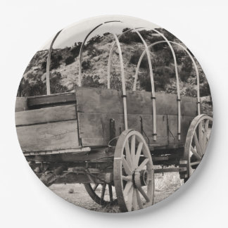 Covered Wagon 9 Inch Paper Plate