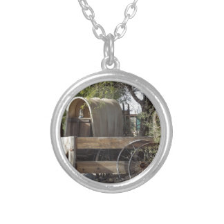 Covered Wagon Round Pendant Necklace