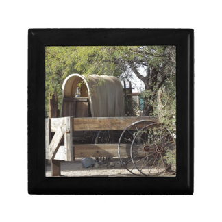 Covered Wagon Small Square Gift Box