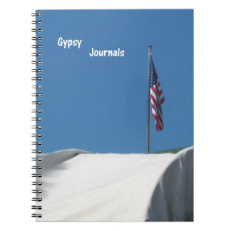 Covered Wagon Spiral Note Book
