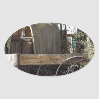 Covered Wagon Oval Sticker