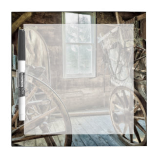 Covered wagon, wooden wagon wheel dry erase whiteboards
