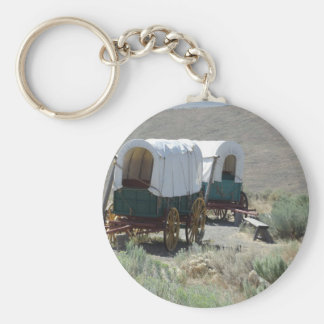 Covered Wagons Basic Round Button Key Ring