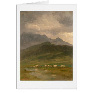 Covered Wagons by Bierstadt (0101A) Greeting Card