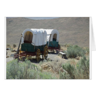 Covered Wagons Greeting Cards