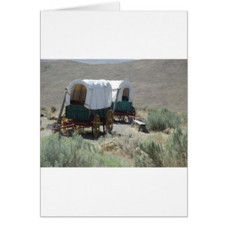 Covered Wagons Greeting Card