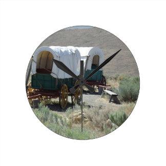 Covered Wagons Wallclock