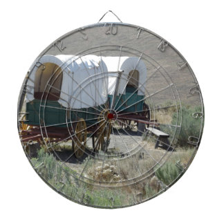 Covered Wagons Dartboard With Darts
