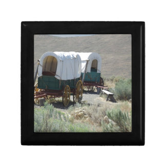 Covered Wagons Small Square Gift Box