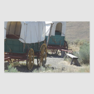 Covered Wagons Rectangular Sticker