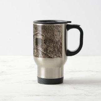 Covered Wooden Bridge Travel Mug