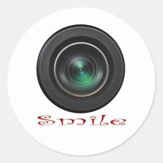 Covertcam Smile Classic Round Sticker