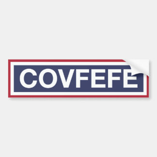 COVFEFE BUMPER STICKER