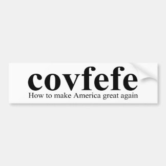 Covfefe Definition Trump Bumper Sticker
