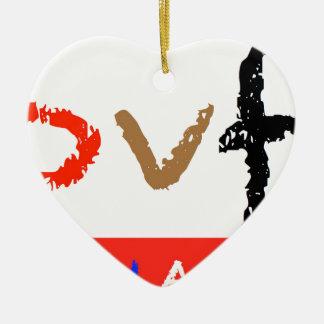 #covfefe Made In America Ceramic Heart Decoration