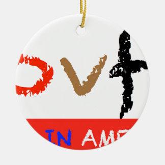#covfefe Made In America Ceramic Ornament
